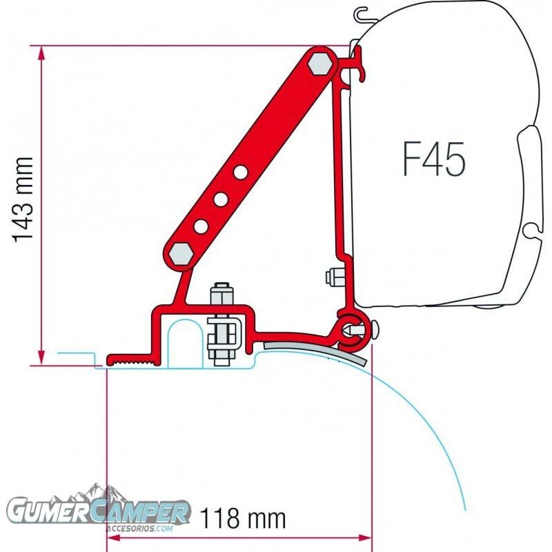 SOPORTE TOLDO F45 DUCATO JUMPER BOXER HIGH ROOF -06/2006